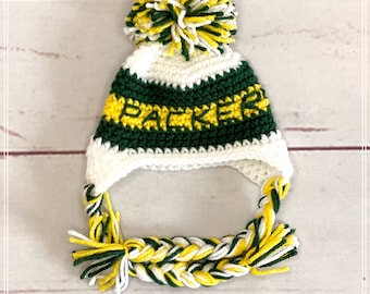 Green Bay Packers Baby Hat, Baby Shower Gifts, Baby Photo Prop, Green Bay Packers, Baby Winter Hat, Football Hat, Football Photo Prop.