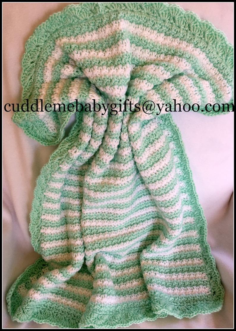 Crochet Baby Blanket Custom Baby Blanket Baby Shower Gift image 1