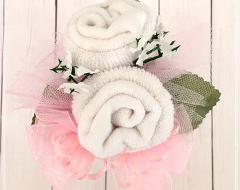 Baby Sock Corsage, Mommy to be Corsage, Grandma Corsage,Baby Shower Decor, Baby Shower Gifts, Baby Shower Pin, Mom to be Pin, Gender Neutral