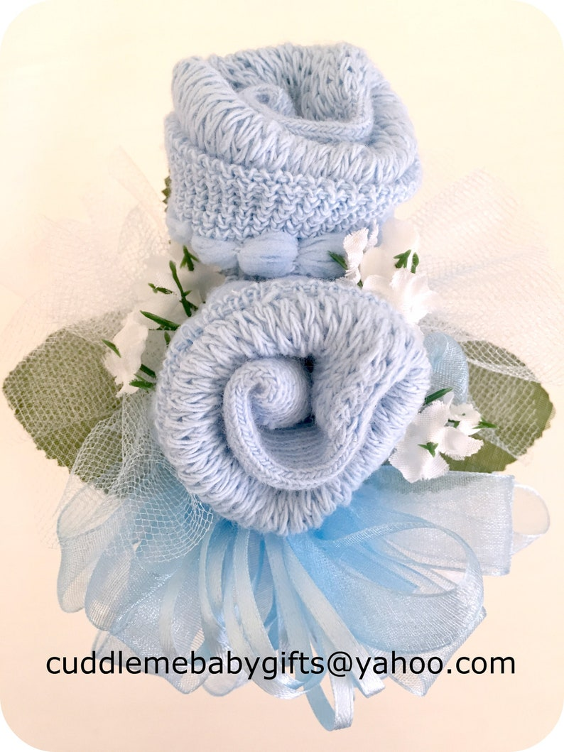 Baby Sock Corsage-Mommy to be Baby Shower Corsage-Grandma to image 0