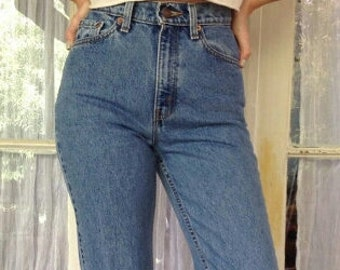 LEVI'S HIGH WAIST Vintage Jeans Denim Medium Blue Wash Gift Womens 2 3 4 5 6 7 8 9 24 25 26 27 28 29 30 31 32 33 34 35 36 Authentic Slim Fit