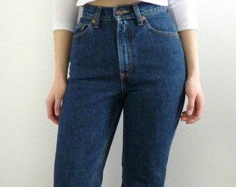 5c4d8d3067 LEVI'S HIGH WAIST Vintage denim Jeans All Sizes Dark Wash Gift Womens 2 3 4  5 6 7 24 25 26 27 28 29 30 31 32 33 34 35 36 Authentic Slim Fit