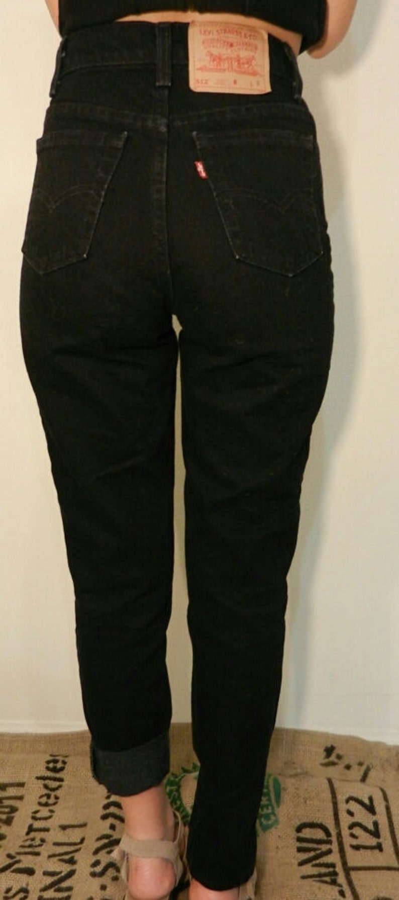56f39c54c1 LEVI'S HIGH WAIST Vintage Jeans Black Denim Wash Gift | Etsy