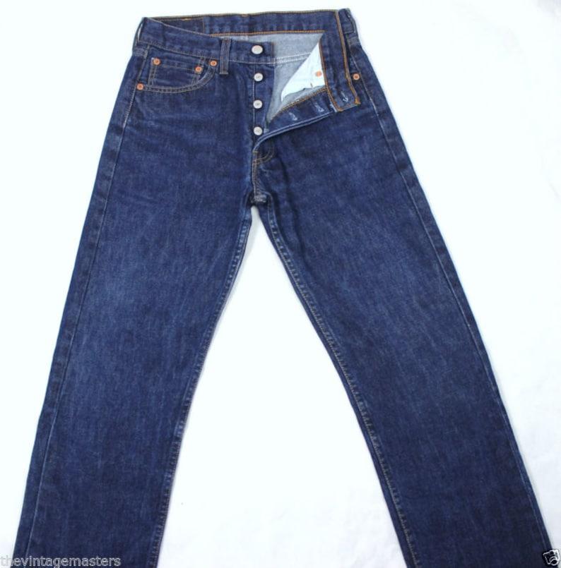 1e2c097d7b0d8 Vintage Levi s 501 High Waist Slim Fit Straight Leg Jeans