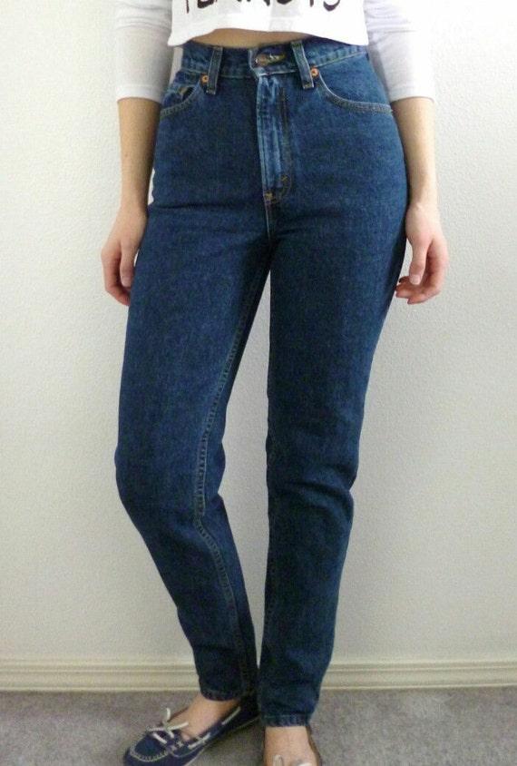 Levis High Waist Vintage Denim Jeans All Sizes Dark Wash Etsy