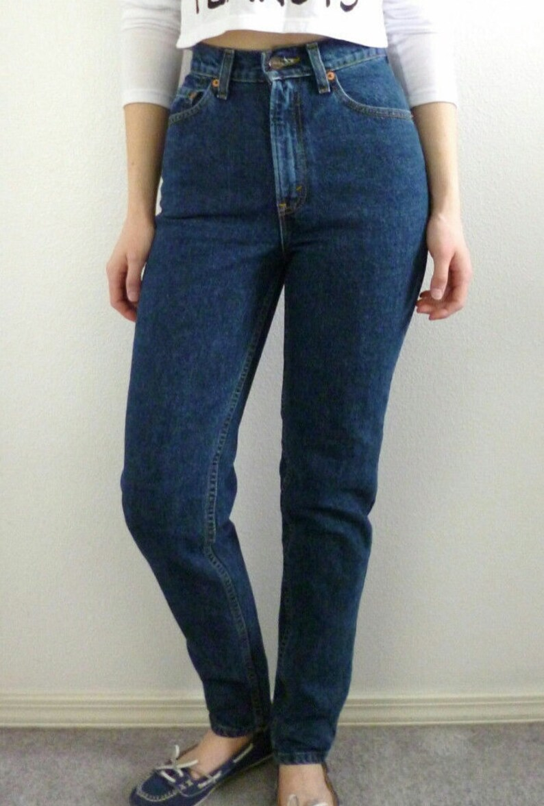 da7f0a175d3d LEVI S HIGH WAIST Vintage denim Jeans All Sizes Dark Wash