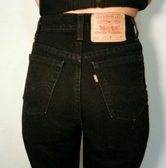limited style enjoy lowest price sells LEVI'S HIGH WAIST Vintage Jeans Black Denim Wash Gift Womens 2 3 4 5 6 7 8  9 10 11 24 25 26 27 28 29 30 31 32 33 34 35 36 Authentic Slim Fit