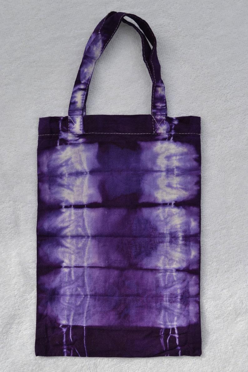 Bag bag Cotton bag Shopping bag Handle bag Bucket bag Child bag Gift wrapping Gift bag Purple violet batik hand-dyed