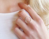 Unusual Silver Ring | Circle Ring | Negative Space Ring | Minimal Jewellery | Geometric Jewellery | Delicate Ring | Eco Friendly Jewellery