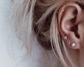 Mix and Match Earring Set | Mismatched Earrings | Silver Stud Earring | Small Earring Set of Three | Earring Set | Shape Earrings