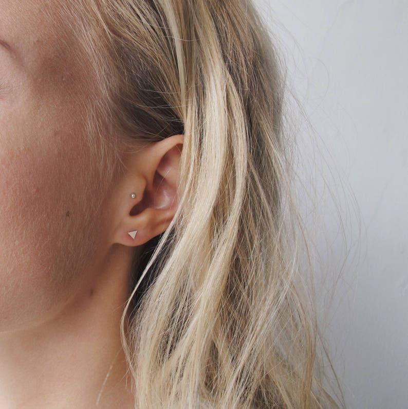 86a0655d0 Small Triangle Earrings Delicate Earrings Shape Earrings | Etsy