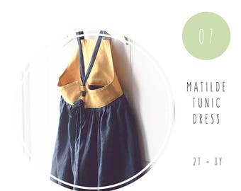 Girl dress pdf sewing pattern. Boho tunic pdf pattern. Girl sewing pattern. Dress tutorial. Children sewing pattern.