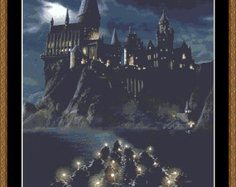 Hogwarts Cross Stitch Pattern, Castle Cross Stitch, Photo Cross Stitch, Movie Cross Stitch, Fantasy Cross Stitch, Kreuzstich, PDF, DMC