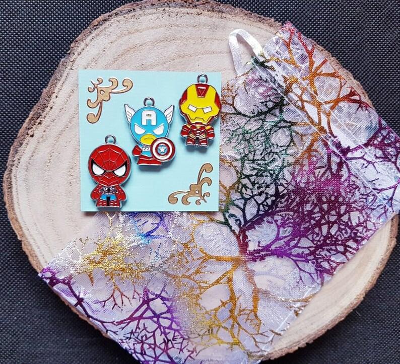 Spiderman Kreuzstich Enamel Needle Minder Nadelmagnet Iron Man Cross Stitch Nadel Minder Avengers Needle Minder Set Captain America