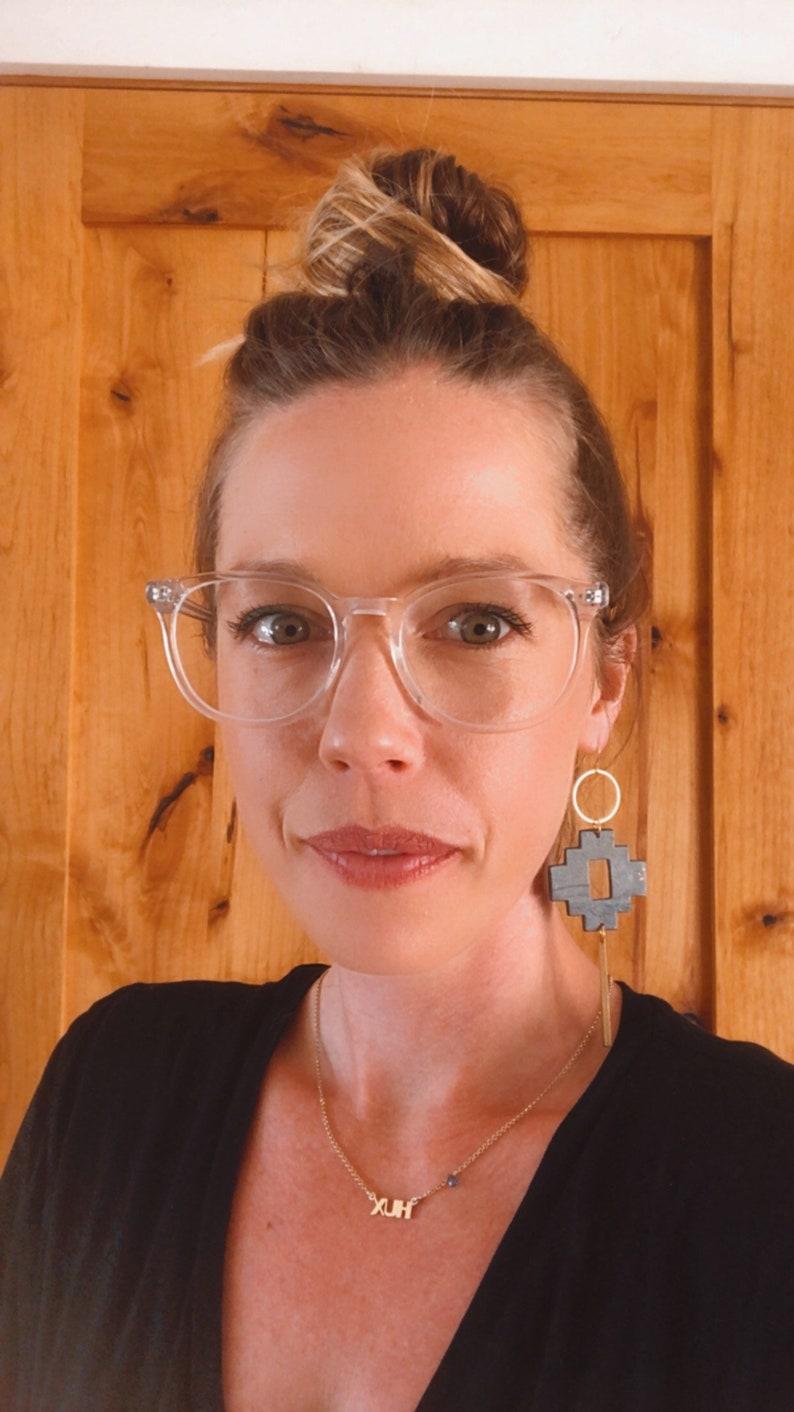Santa Fe inspired earrings with brass