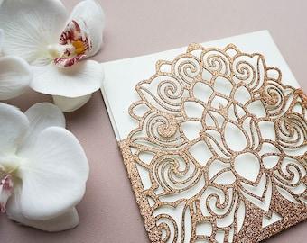 Glitter paper invitation