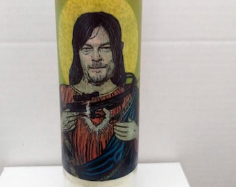 Saint Daryl Prayer Candle Norman Reedus Zombie Protection Walking Dead