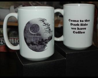 Darkside Ceramic Coffee Mug 15 ounce Star Wars Deathstar