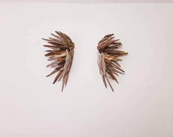 Driftwood Angel wing set,Driftwood Sculpture, Wall Art, Reclaimed Driftwood, Driftwood Wing