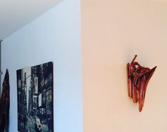 "Driftwood ""Fire Dance""   Wall Piece, Driftwood Art, Driftwood Sculpture, Wall Art, Reclaimed Driftwood"