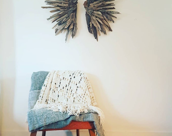 Featured listing image: Driftwood angel, Love, angel wings, Driftwood Art, Driftwood Sculpture, Wall Art, Reclaimed Driftwood, Driftwood wall art, driftwood wings