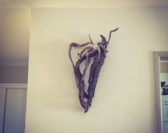 Driftwood Heart, Love, Wood Heart, Driftwood Art, Driftwood Sculpture, Wall Art, Reclaimed Driftwood, Driftwood wall art