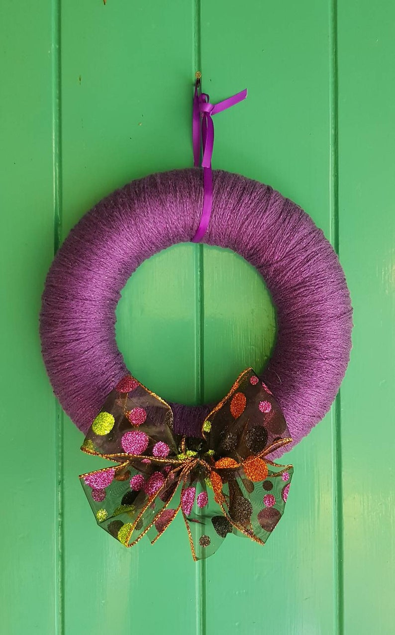 Halloween Yarn Wreath Etsy