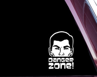 Sterling Archer Danger Zone!- Die Cut Decal Sticker NOT PRINTED