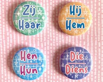 Dutch Pronouns Buttons