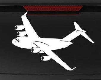 BOEING C-17 GLOBEMASTER III PILOT FRONT Sticker Decal Aviation CREW TRANSPORT