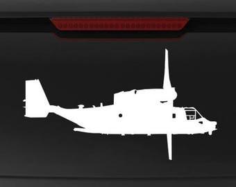 CV-22 MV-22 Osprey RIGHT Side - Vinyl Decal / Sticker