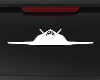 F-117A Nighthawk - Front - Vinyl Decal / Sticker