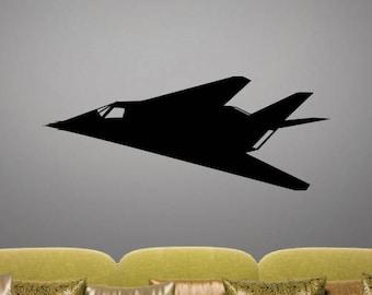F-117A Nighthawk - Angle 1 - Vinyl Decal / Sticker