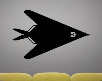 F-117A Nighthawk - TOP - Vinyl Decal / Sticker