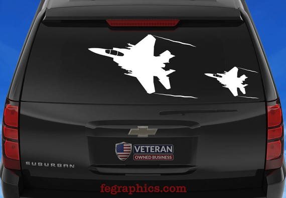 BellavanceInk F-15E Strike Eagle Jet Vinyl Sticker Illustration