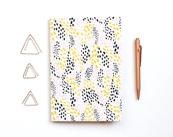 Patterned A5 Notebook - Waves