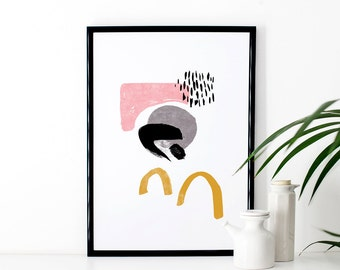 Abstract Art Print - dance & dash