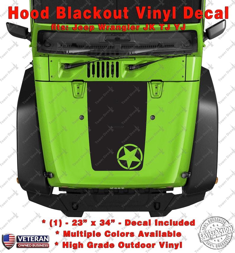 Jeep Decal jk Wrangler Blackout Oscar Mike Army Military Cherokee 10 Colors
