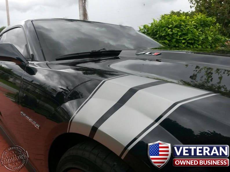 Camaro Fender Hash Bars Pin Stripe Grand Sport Vinyl Stripes Both Sides Chevy