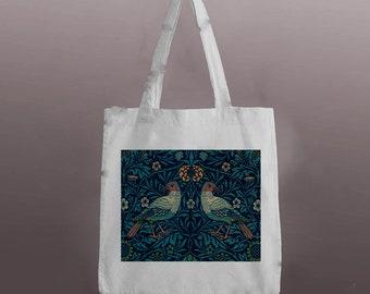 Tote Bag Fairy art Toadstool Mushroom Forest Fairy Toadstool Faerie art Nature Fairy Cotton Eco reuseable shopping bag Woodland