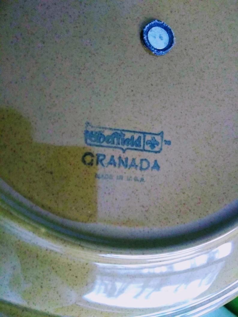 Sheffield Granada Green Serving Set by Homer Laughlin BONUS 2 Serving Spoons 6 Pieces