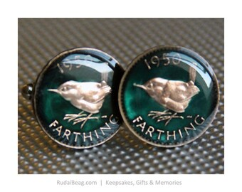 1950 - Enamelled Coin Cufflinks - Britain 552293b9e2ed