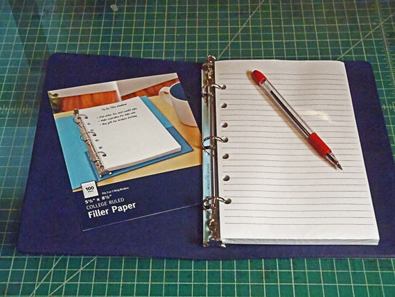 inserts for a5 planner binder 5 5 x 8 5 half page etsy