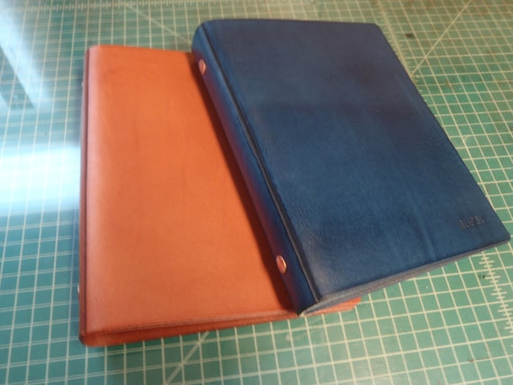 handmade leather a5 5 5 x 8 5 refillable etsy