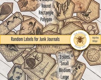 Random Labels for Junk Journaling Digital Printable