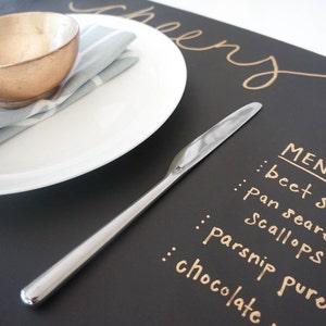Chalkboard Paper Roll|Chalkboard Table Runner Chalkboard Placemats Wrapping Paper|Chalkboard Gift Wrap 15 ft Black Kraft Chalkboard Paper
