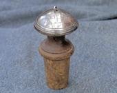 Silver Topped wine Barrel Cork Possibly Georgian