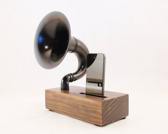 Acoustic Speaker, iPhone Speaker for iPhone 4/5/6/7/8, Horn Speaker, Wireless Speaker, iPhone Amp, iPhone Dock, iPhone Stand, Speaker