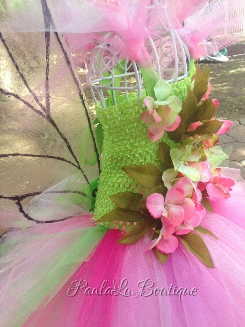 Costume fairy Tutu Spring fairy Flower Pixie Tulle Dress whimsical fairy Toddler girls Boutique Style Flower Girl