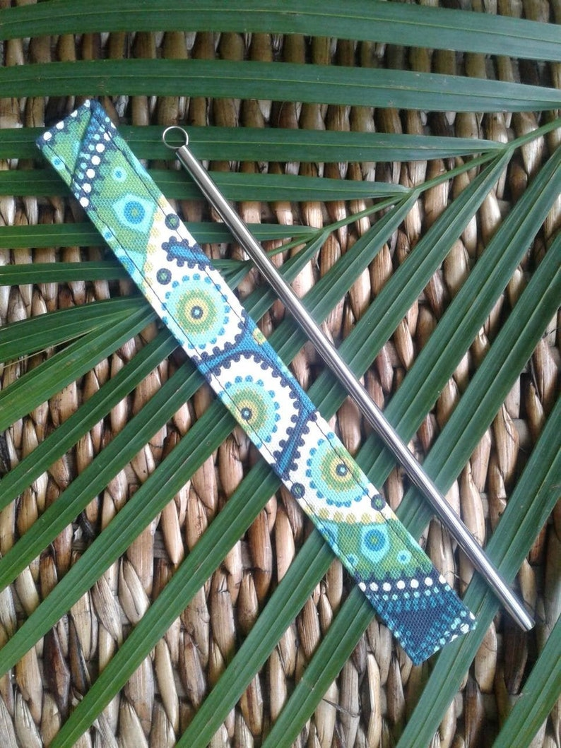 SALE 20/% OFF Stainless steel straw /& Boho sleeve with wire brush SILICONE tip included!